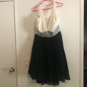 Black, White, & Silver Sequins Dress